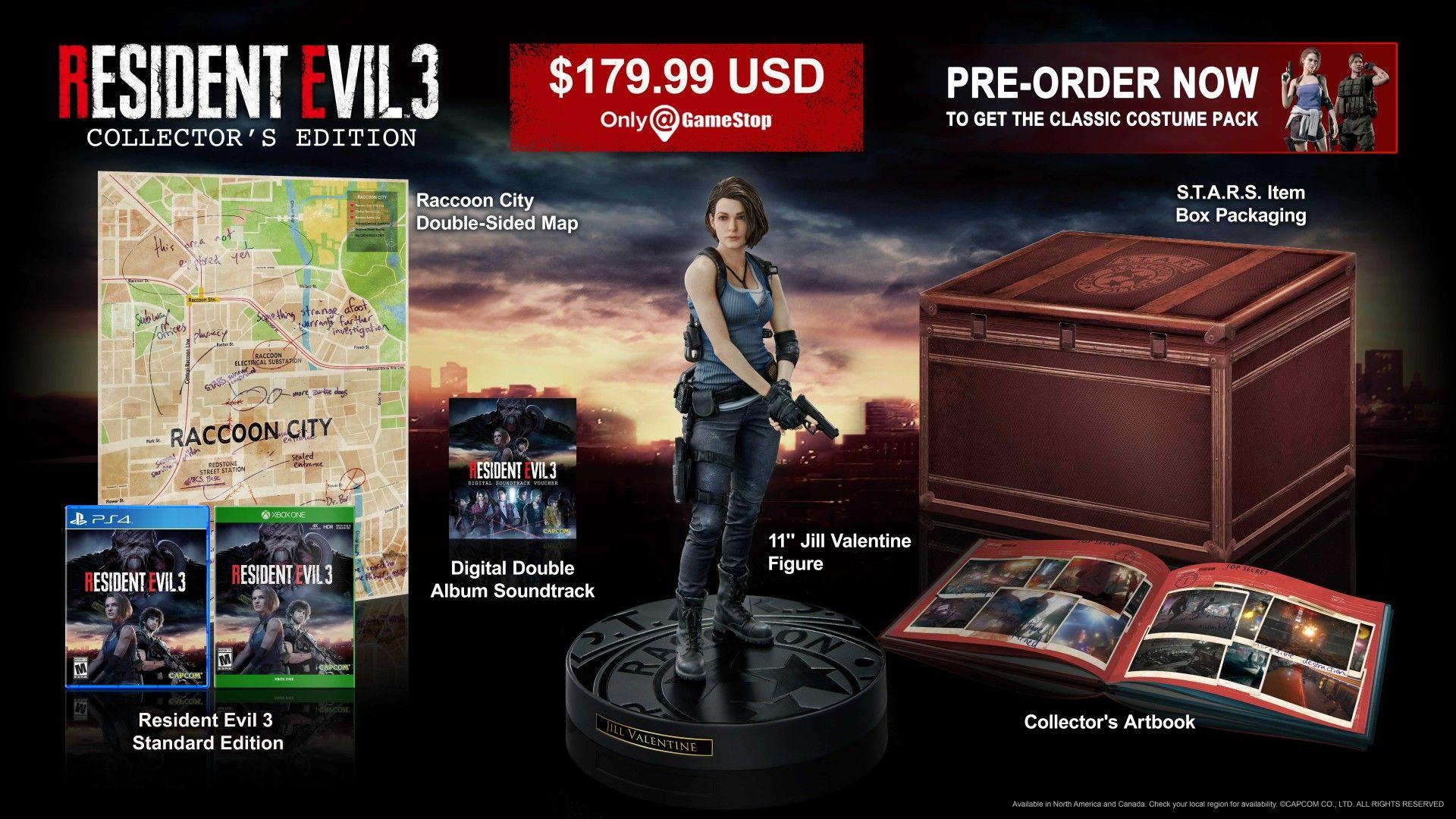 Semua Bonus Pre Order Resident Evil 3 Remake Dan Edisi Spesial